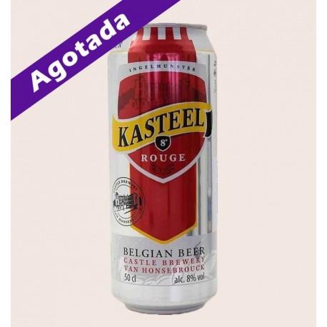 Cerveza belga importada Kasteel rouge lata Fruit Beer quiero chela