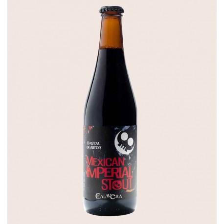 Cerveza artesanal calavera mexican imperial stout quiero chela