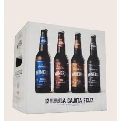 Cajota feliz 12 cervezas de minerva colonial viena pale ale stout quiero chela