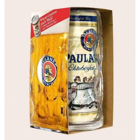 Cerveza alemana paulaner oktoberfest bier estilo lager tarro y lata 1 litro quiero chela