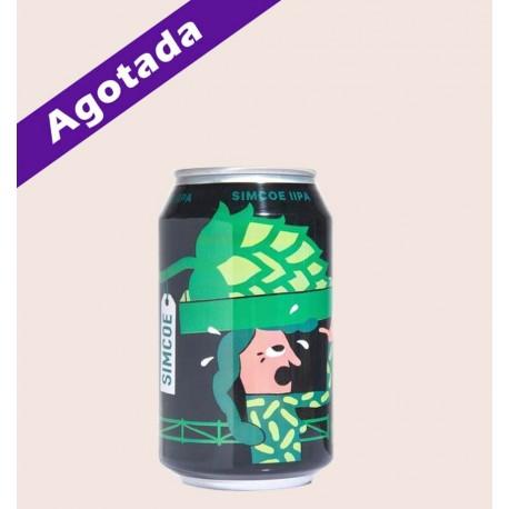 Cerveza importada mikkeller single hop IPA simcoe quiero chela