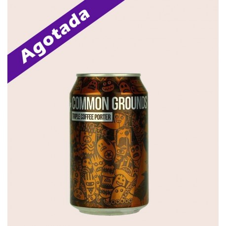Cerveza importada common grounds Coffee Porter quiero chela