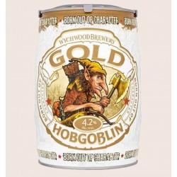 Cerveza importada hobgoblin gold Golden Ale quiero chela barril 5 litros