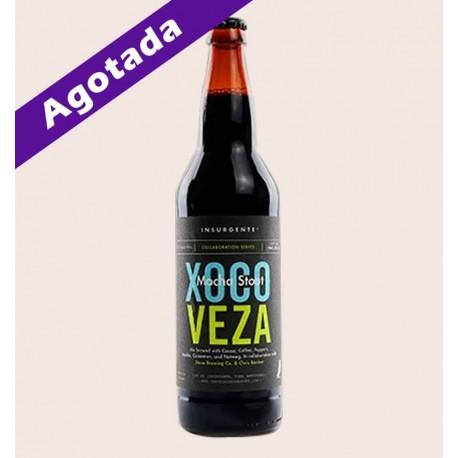 Cerveza artesanal xocoveza Mocha Stout insurgente quiero chela