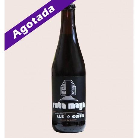 Cerveza artesanal ruta maya Belgian Strong Dark Ale calavera quiero chela