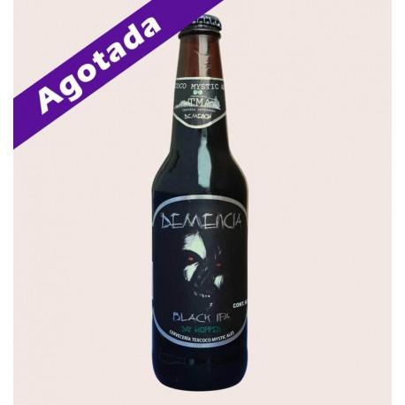 Cerveza artesanal demencia TMA Black IPA quiero chela