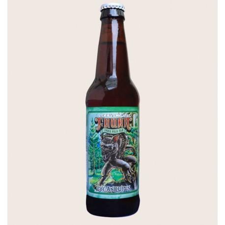 Cerveza artesanal lycan lupus IPA fauna quiero chela