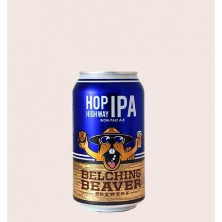 Cerveza importada hop highway ipa belching beaver quiero chela