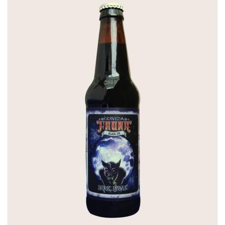 Cerveza artesanal dark lycan fauna Black IPA quiero chela