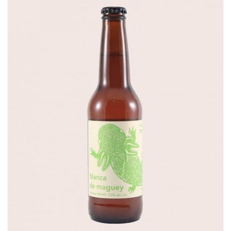 Cerveza artesanal monstruo de agua blanca de maguey witbier quiero chela