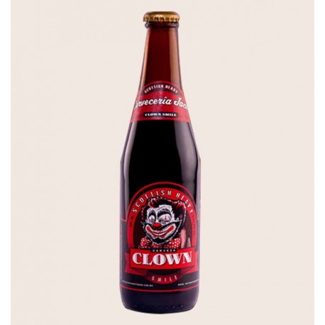 Cerveza artesanal clown smile jack Scottish Heavy quiero chela