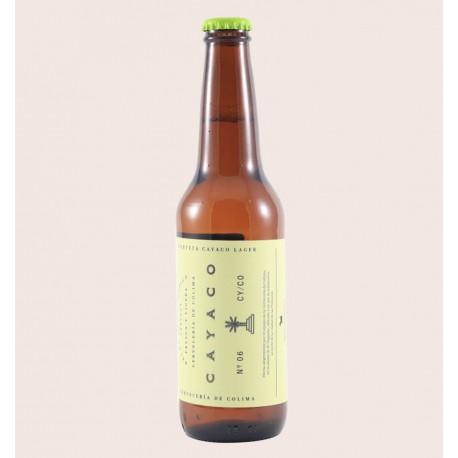 Cerveza artesanal cayaco colima Lager quiero chela