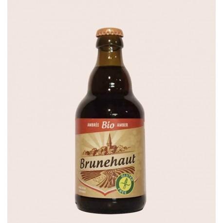 Cerveza belga importada brunehaut bio American Amber Gluten Free quiero chela