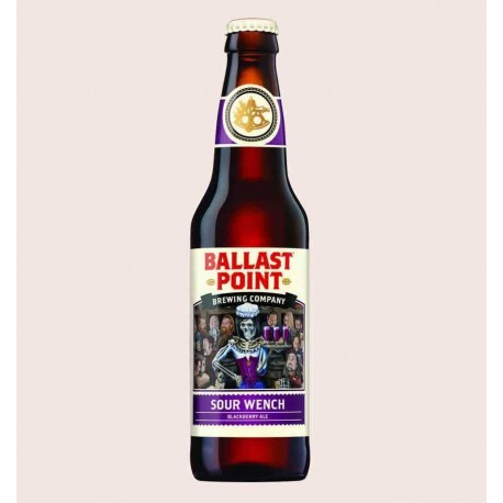 Cerveza americana importada sour wench ballast point Sour Ale con Zarzamoras quiero chela