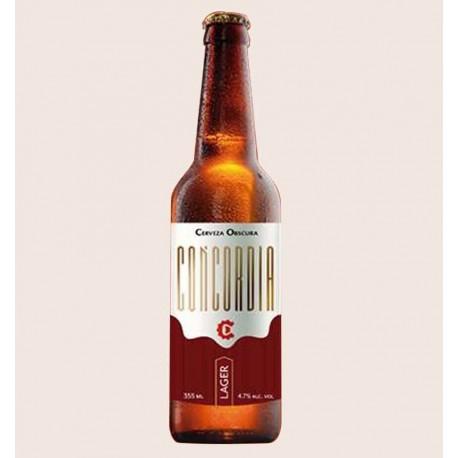 Cerveza artesanal concordia lager oscura quiero chela