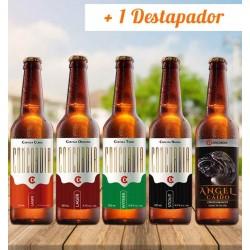Pack cervezas artesanales concordia stout lager clara witbier angel caido