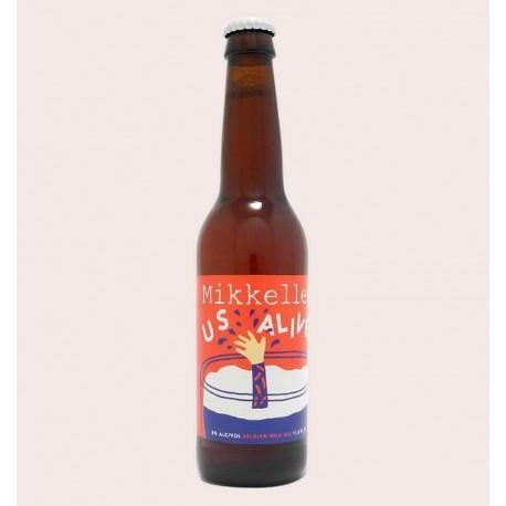 Cerveza importada mikkeller us alive Belgian Wild Ale quiero chela
