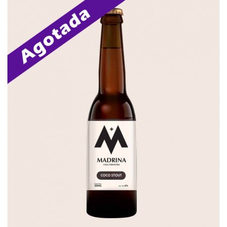 Cerveza artesanal madrina coco stout quiero chela