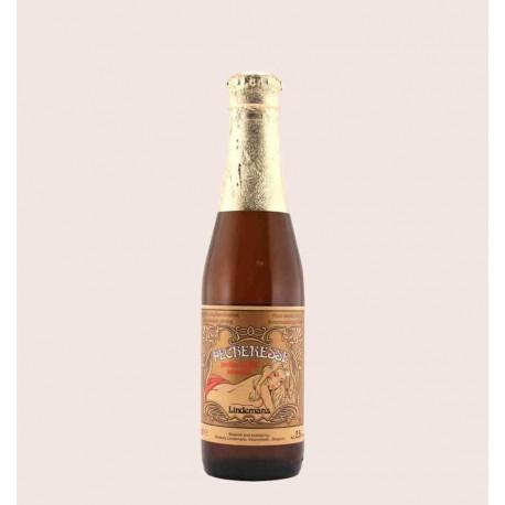 Cerveza belga importada lindemans pecheresse lambic quiero chela