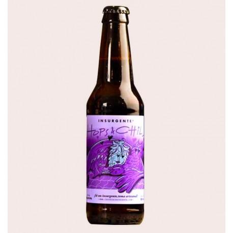 Cerveza artesanal hops and chilli doble ipa insurgente quiero chela