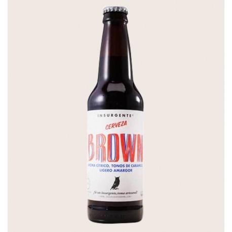 Cerveza artesanal brown insurgente quiero chela