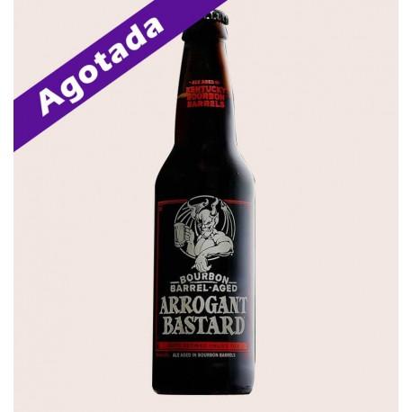 Cerveza importada bourbon barrel aged arrogant bastard stone brewing American Strong Ale quiero chela