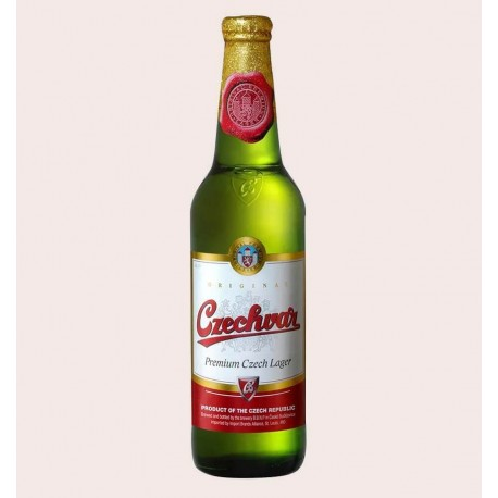 Cerveza importada Czechvar B Original lager quiero chela