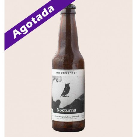 Cerveza artesanal nocturna insurgente black IPA quiero chela