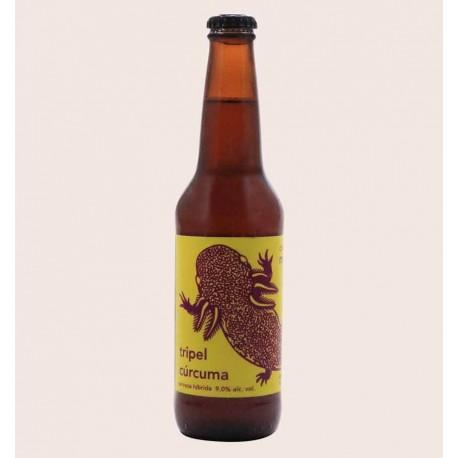 Cerveza artesanal tripel curcuma monstruo de agua quiero chela