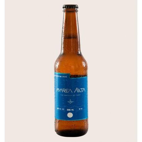 Cerveza artesanal marea alta Premium American Lager heroica quiero chela