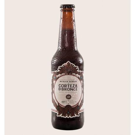 Cerveza artesanal corteza de bronce Munich Dunkel heroica quiero chela