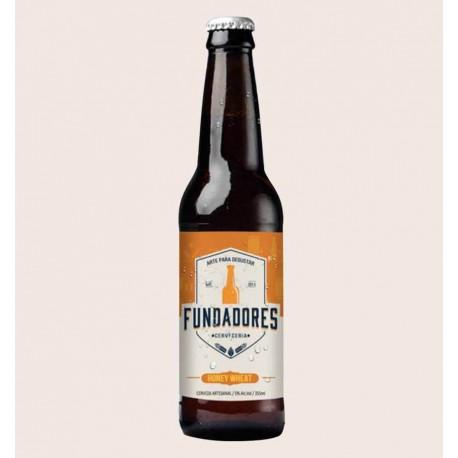Cerveza artesanal Fundadores honey wheat quiero chela