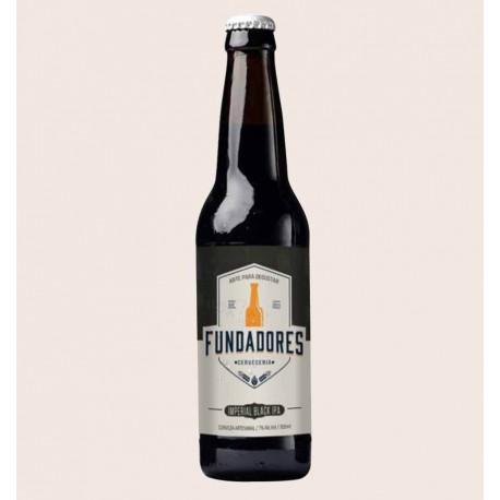 Cerveza artesanal Fundadores imperial black ipa quiero chela