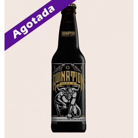 Cerveza importada stone ruination double ipa 2.0 quiero chela