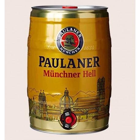 Cerveza Alemana Paulaner Munchner Hell estilo lager barril 5 litros quiero chela