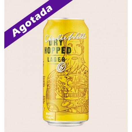Cerveza importada charlie wells dry hopped india pale lager quiero chela