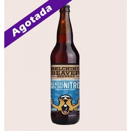 Cerveza importada belching beaver milk stout nitro quiero chela