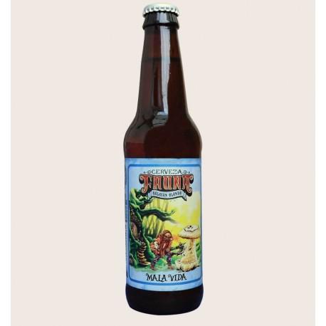 Cerveza artesanal mala vida fauna Belgian Blonde quiero chela