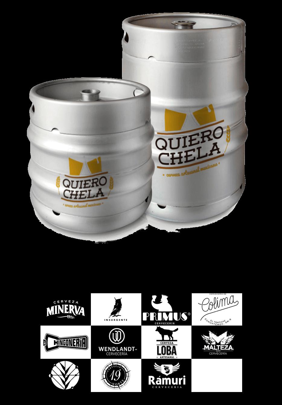 Cerveza de barril quiero chela